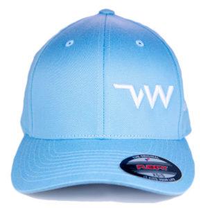 casquette Flexfit Wooly combed bleu ciel face