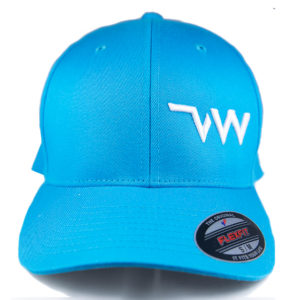 casquette Flexfit Wooly combed turquoise face