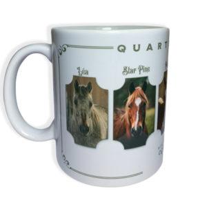 Mug ceramique blanc quarter horse lea Star pine wimpy's