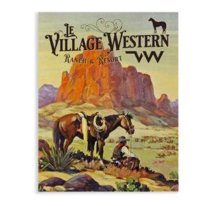 Plaque metal déco vintage ranch