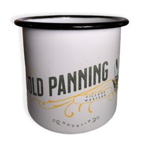 Tasse en acier emaillé Gold panning Village Western face