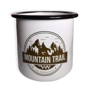 Tasse en acier emaillé Mountain trail Village Western face