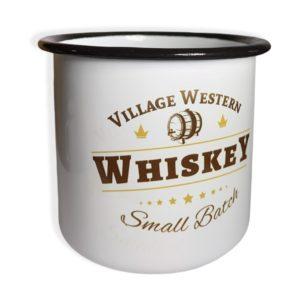 Tasse Whiskey Village Western face
