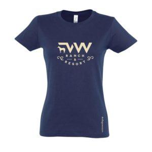 T-shirt femme Village Western Navy crème