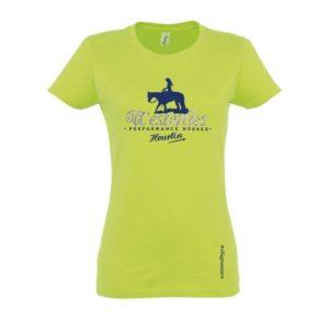 T-shirt femme vert pomme Westerlies paillettes argentées
